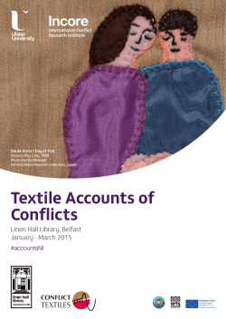 Textile Accounts of Conflicts