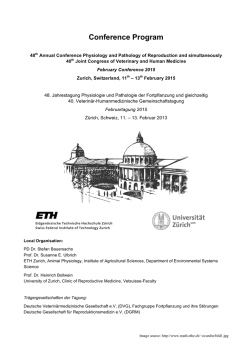 Conference Program - Februartagung 2015