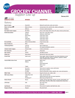 Grocery Supplier Lineup