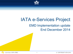 IATA e-services Project Update final
