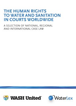 the human rights to water and sanitation in courts