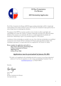 Scholarship Application - El Paso Commision for Women