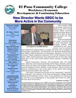 SBDC Director - El Paso Community College