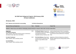 SA-YSSP Final Colloquium Program, 29-30 January 2015