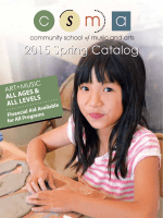 Download Fall Catalog - Community School of Music and Arts