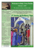 February 1, 2015 - Holy Cross Catholic Church
