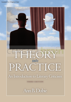Theory into Practice: An Introduction to Literary