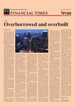 China: Overborrowed and overbuilt – FT2241