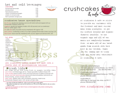 menu - Crushcakes