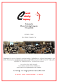 Classic Catering Menu - The Rivers Edge and Classic Catering