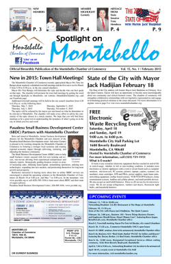 Spotlight on - Montebello Chamber of Commerce