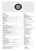 Evening Food and Drinks Menu
