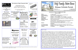 Bulletin - Holy Family Notre Dame Parish