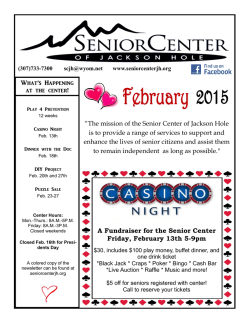 Newsletter - Senior Center of Jackson Hole