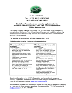 yvraf- call for scholarship applications 2015 final
