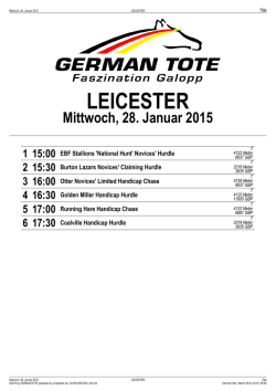 LEICESTER - German Tote