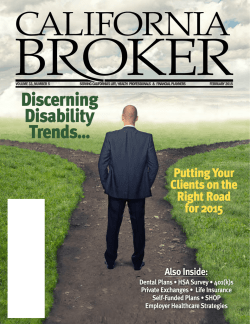 January - California Broker Magazine
