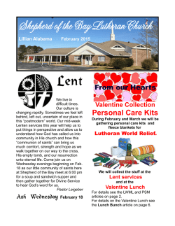 to see the February 2015 Newsletter
