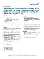 Product Summary - Skyworks Solutions, Inc.