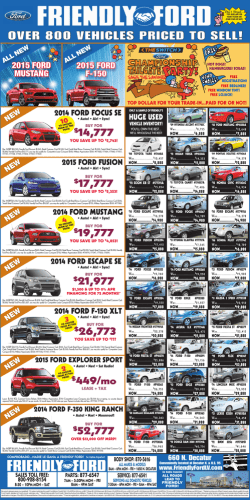 OVER 800 VEHICLES PRICED TO SELL!