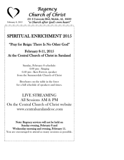 Download File - Regency Church of Christ