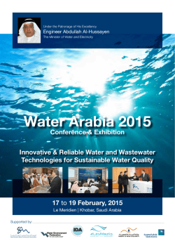 Water Arabia 2015 - Saudi Arabian Water Environment Association