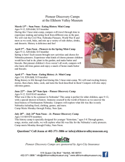 Pioneer Discovery Camps at the Elkhorn Valley Museum