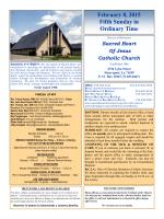Sunday Bulletin - Sacred Heart of Jesus Church, Shreveport LA