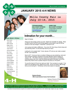 January 2015 Newsletter - Iowa State University Extension and