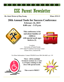 Winter 2014-15 Parent Newsletter