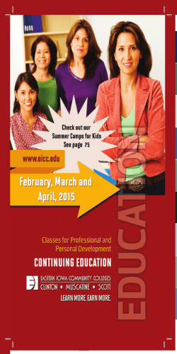 February - Eastern Iowa Community Colleges
