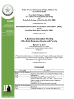 Invite to IALU Bus Educ Mtg 2015