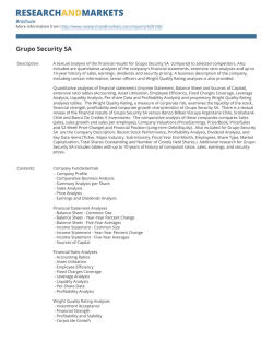 Grupo Security SA - Research and Markets