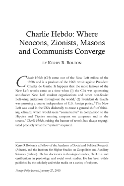 Charlie Hebdo: Where Neocons, Zionists, Masons and Communists