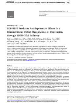 SKF83959 Produces Antidepressant Effects in a Chronic Social