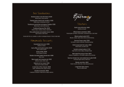 View Bar Epernay Menu