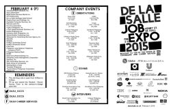 Job Expo Feb. 2-6, 2015 - De La Salle University