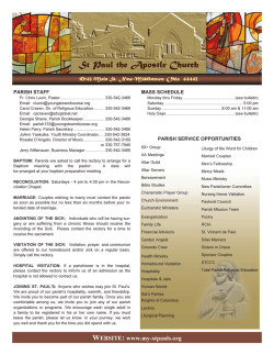 Bulletin - Saint Paul the Apostle Church