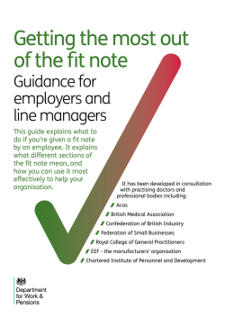 Guidance for employers and line managers