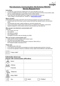(NECAS) Service Request Form