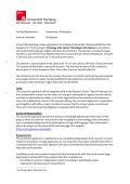 Faculty/Department: Humanities/ Philosophy Seminar/Institute