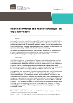 Health informatics and health technology