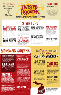 Full Menu - Twisted Rooster