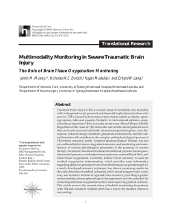 Multimodality Monitoring in Severe Traumatic Brain