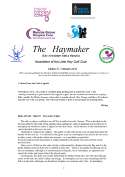 The Haymaker 47 - Little Hay Golf Club