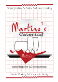 Menu - Martinos Catering