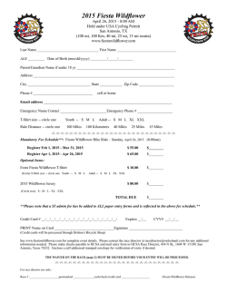 Entry Form - Fiesta Wildflower Ride