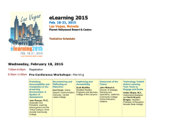 eLearning 2015 Full Schedule at a Glance