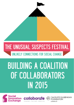 building a coalition of collaborators in 2015