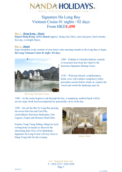 Signature Ha Long Bay Cruise 01N / 02D from